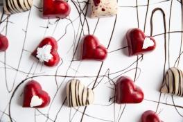 Bombones forma de corazón